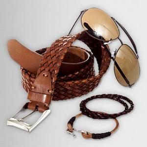 Accessoires pour hommes- ceinture et lunettes de soleil pour hommes