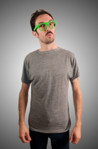 guy with green eyeglasses and mustache